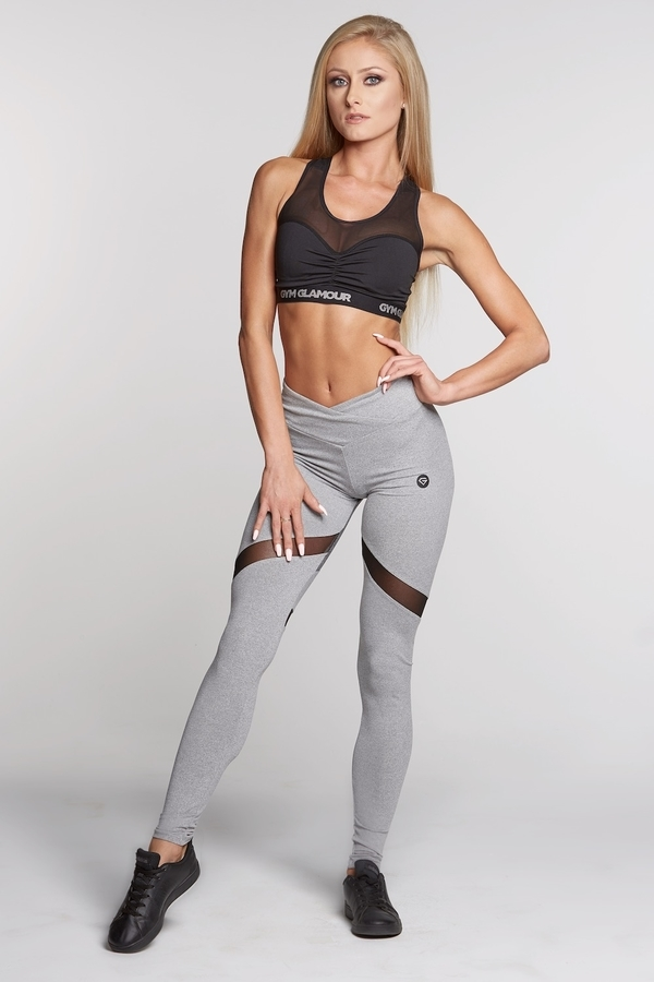 Legíny Gym Glamour Mixed Grey Heart, S - 2