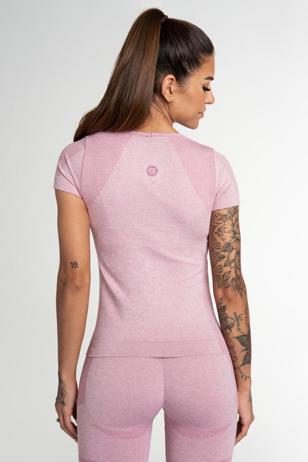 Gym Glamour Tričko Bezšvíkové Fusion Pink - 2