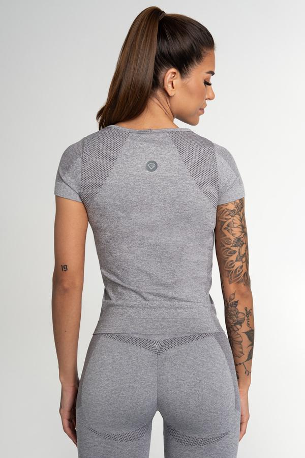 Gym Glamour Tričko Bezšvíkové Fusion Light Grey, M - 2