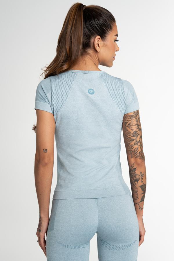 Gym Glamour Tričko Bezšvíkové Fusion Blue, XS - 2
