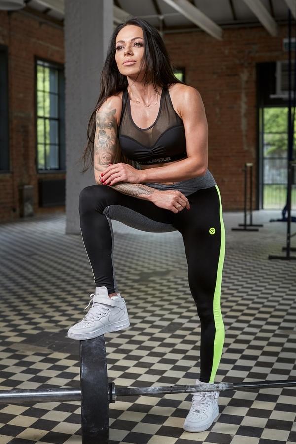 Gym Glamour Legíny S Neonovým Pruhem - 2