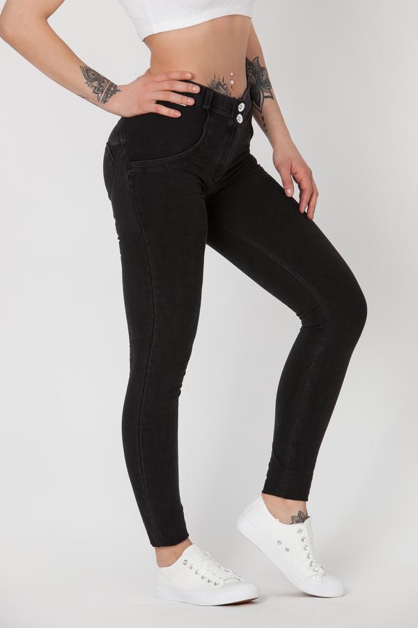 Boost Jeans Mid Waist Black Predobjednávka, XS - 2