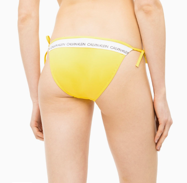 Calvin Klein Plavky CK Logo Yellow Spodný Diel, S - 2