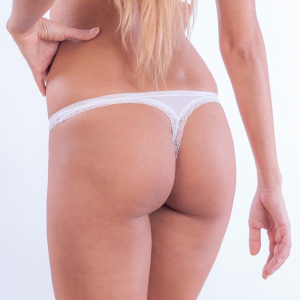 Calvin Klein Tangá Bottoms Up Biele, L - 2