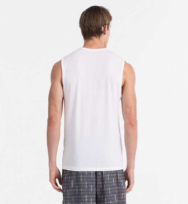 Calvin Klein Tielko Pánske Biele, XL - 2