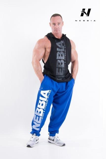 Nebbia HardCore Fitness Tepláky 310 Modré, XXL - 2