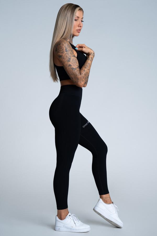 Gym Glamour Legíny Push Up Deep Black - 2
