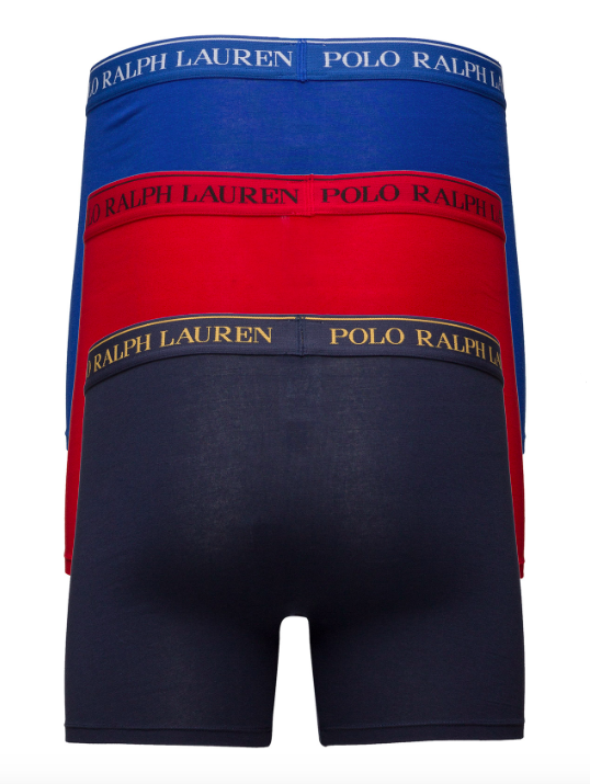 Ralph Lauren 3Pack Boxerky Navy&Blue&Red, XL - 2