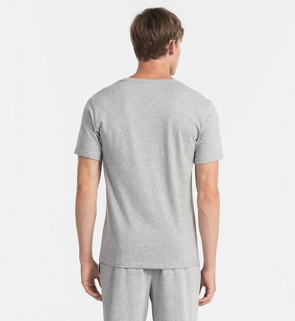 Calvin Klein Pánske Tričko Heritage Šedé, M - 2