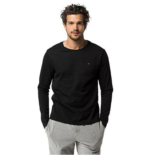 Tommy Hilfiger Pánske tričko s dlhým rukávom Čierne, L - 2
