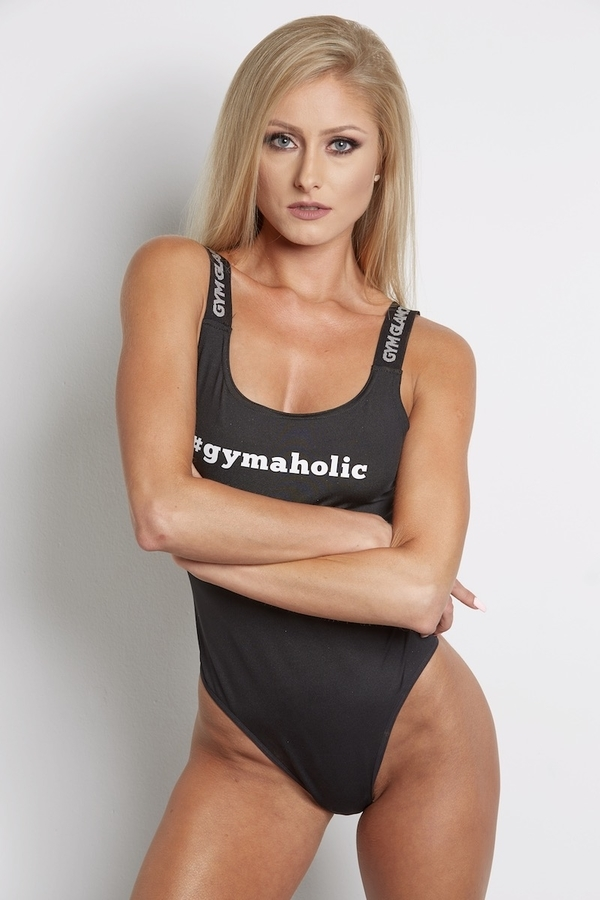 Bodýčko Gym Glamour Čierne, S - 2