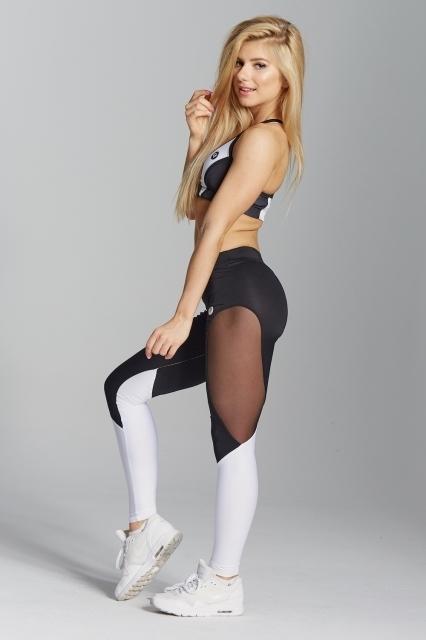 Gym Glamour Legíny Black&White, XS - 2