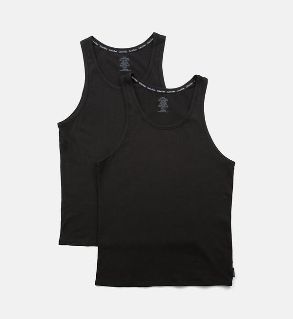 Calvin Klein 2Pack Tielko Pánske Čierne, S - 2