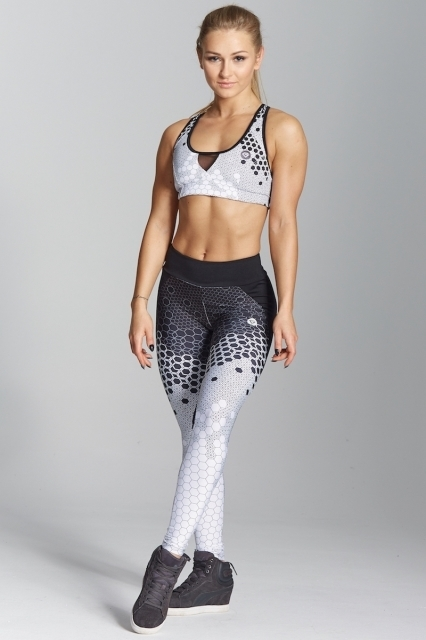 Legíny Gym Glamour White Honey Combs, XS - 2