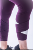 Nebbia 639 Asymmetrical 7/8 Leggings Burgundy - 2/6