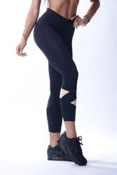 Nebbia 639 Asymmetrical 7/8 Leggings Čierné - 2