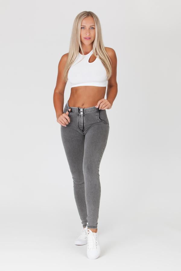 Boost Jeans Mid Waist Grey - 2