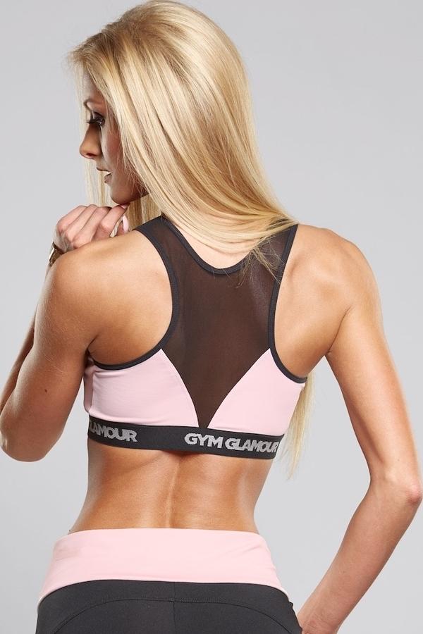 Gym Glamour Podprsenka Pink Zipped, XS - 2