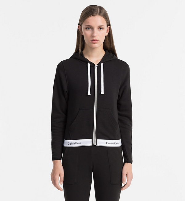 Calvin Klein Mikina So Zipsom Čierna, XS - 2