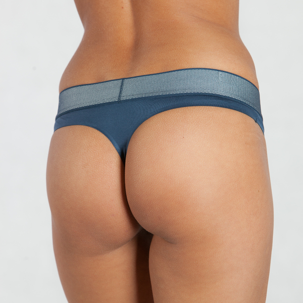 Calvin Klein Tangá Customized Stretch Blue, L - 2