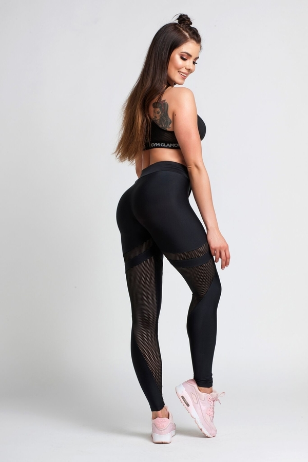 Gym Glamour Legíny Black Mesh, M - 2