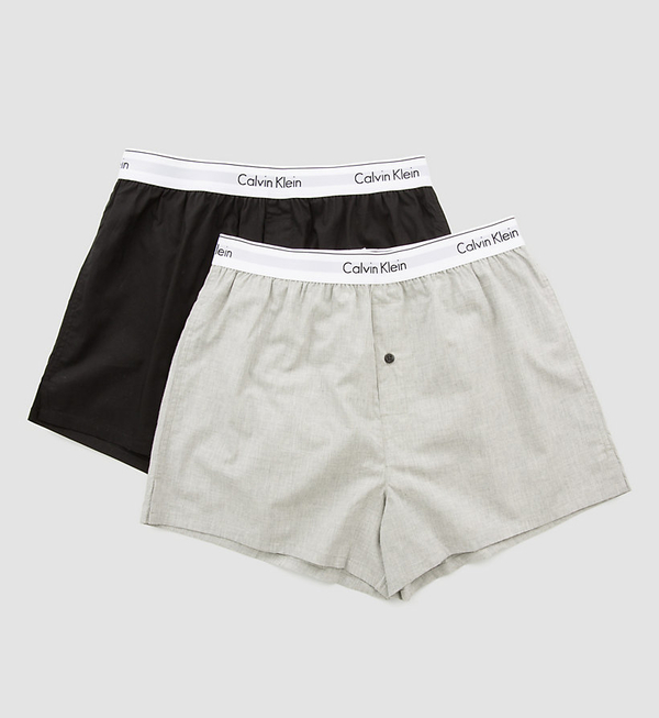 Calvin Klein 2 Pack Trenky Black&Grey, M - 2
