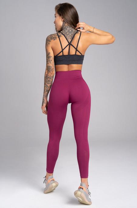 Gym Glamour Legíny Bezšvíkové Jelly Berry, XS - 2