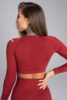 Gym Glamour Crop-Top Bordo, S - 2/2