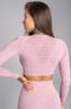Gym Glamour Crop-Top Pink Melange - 2/2