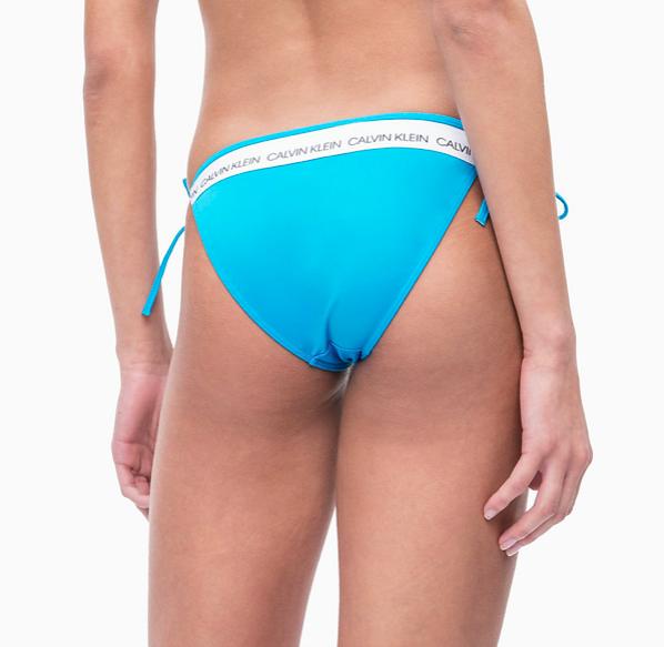 Calvin Klein Plavky CK Logo Maldive Blue Spodný Diel, L - 2