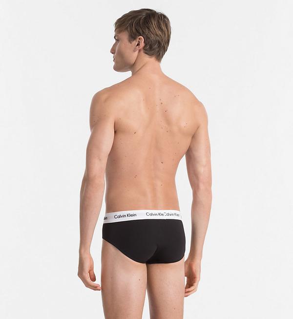 Calvin Klein Slipy Stretch Čierne 3 pack, M - 2