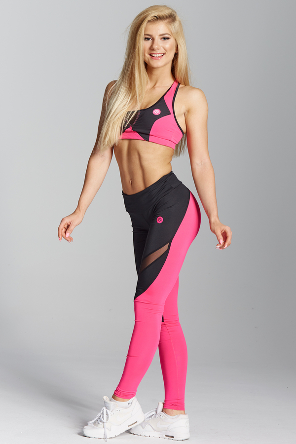 Gym Glamour Legíny Pink Fluo, L - 2