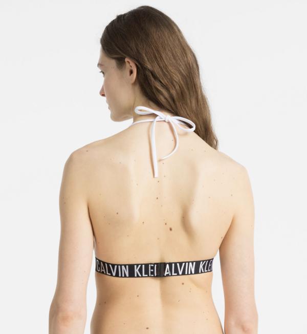 Calvin Klein Plavky Fixed Triangle Biele Vrchní Diel, M - 2