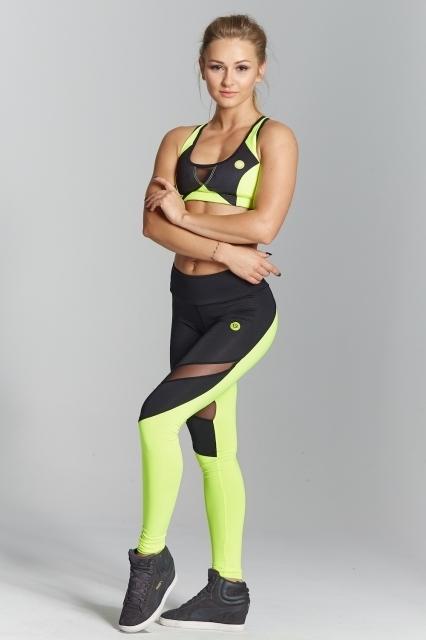 Gym Glamour Legíny Green Fluo, M - 2