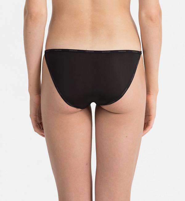 Calvin Klein Nohavičky Sheer Marquisette Black, S - 2