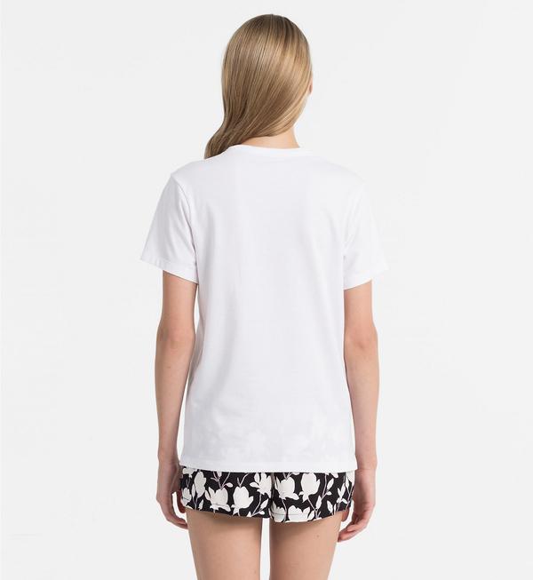 Calvin Klein Dámské Tričko Logo Biele, L - 2