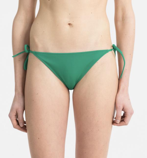 Calvin Klein Plavky Cheeky String Side Zelené Spodní Diel, L - 2