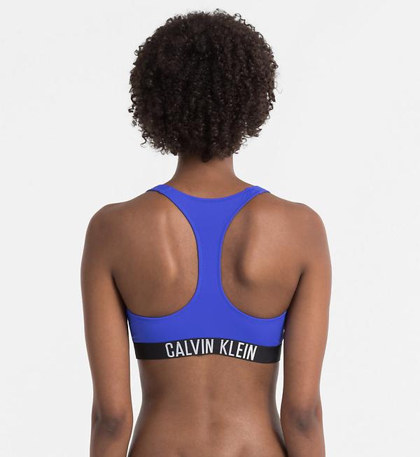 Calvin Klein Plavky Zip Intense Power Modré Vrchní Diel, L - 2