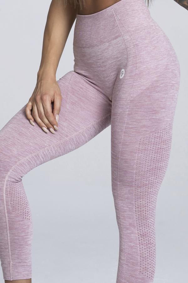 Gym Glamour Legíny Bezšvíkové Pink Melange, M - 2