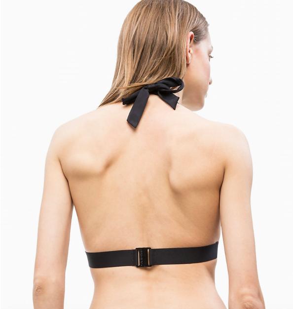 Calvin Klein Plavky Core Icon Triangle Black Vrchní Diel, L - 2