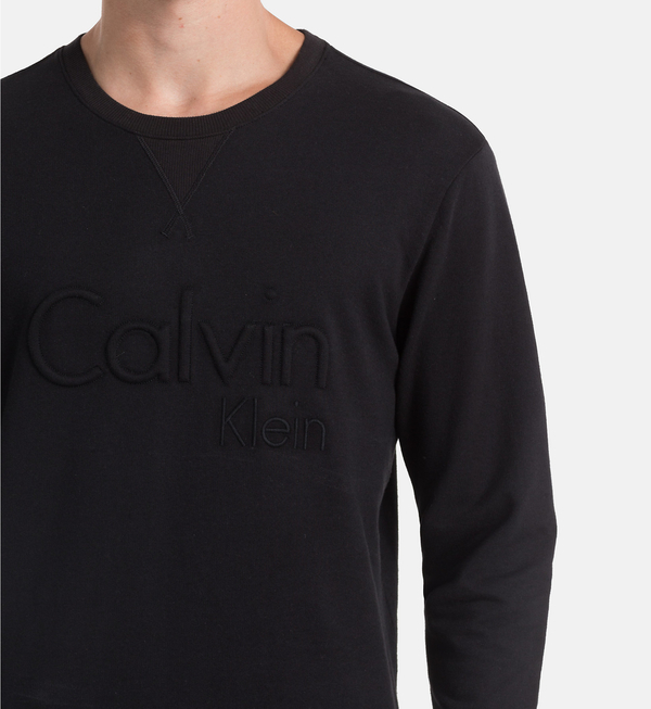Calvin Klein Mikina Čierna S Nápisom - 3