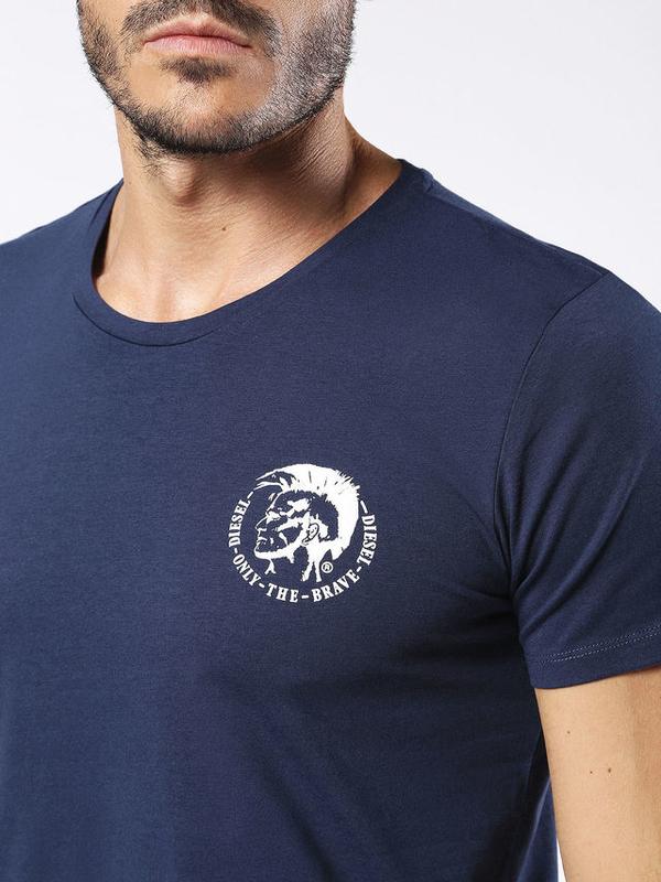Diesel Tričko Pánske Modré S Logom - 3