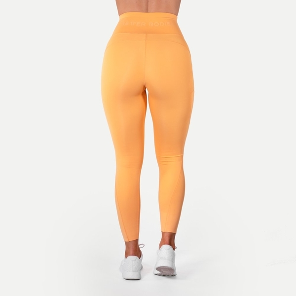 Better Bodies Legíny High Waist Light Orange, S - 3