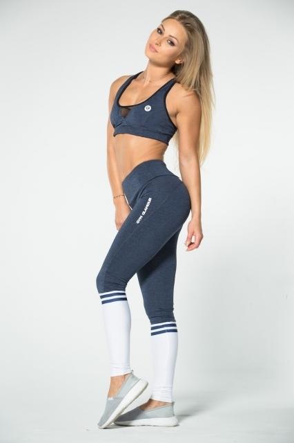 Gym Glamour Legíny Blue Melange & Socks - 3