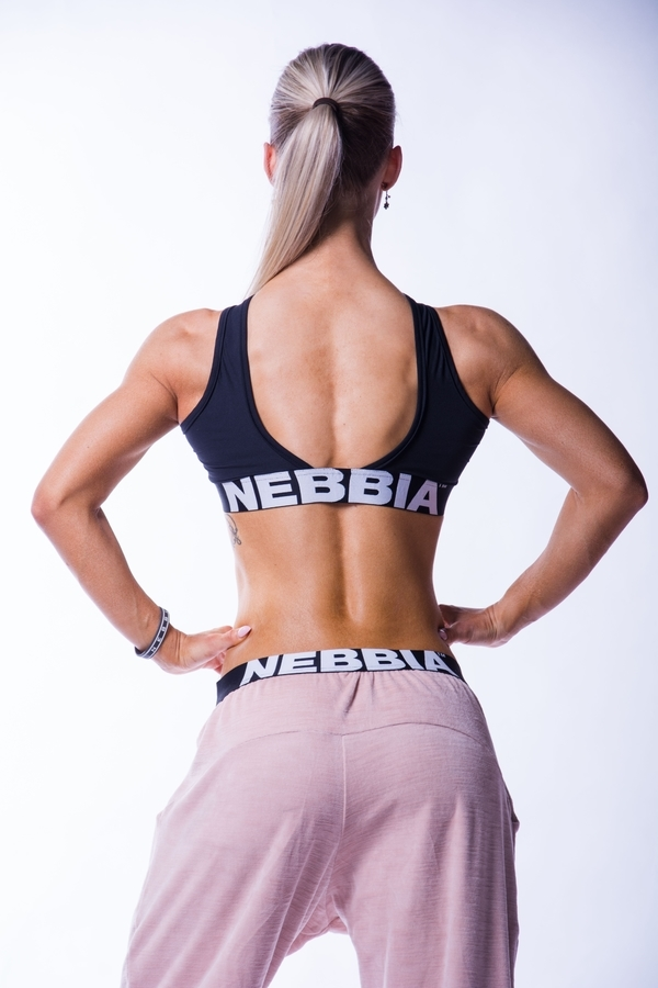 Nebbia 622 Crossed Sports Bra Čierná, M - 3