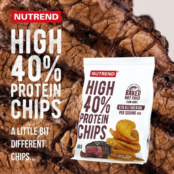 Nutrend Proteínové Chipsy Juicy Steak - 3