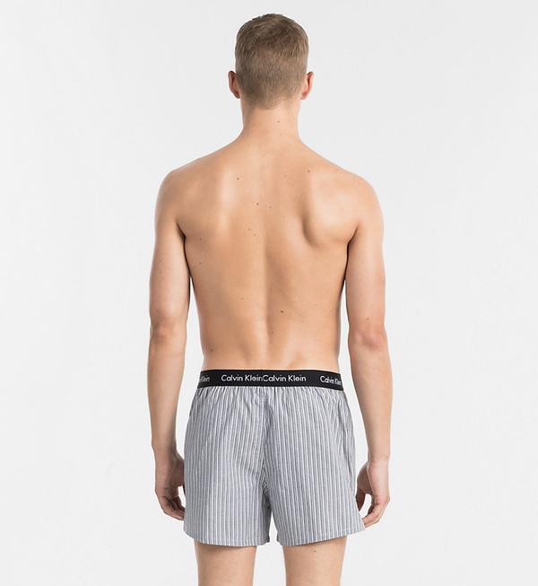 Calvin Klein 2Pack Trenky Čierne So Vzorom - 3