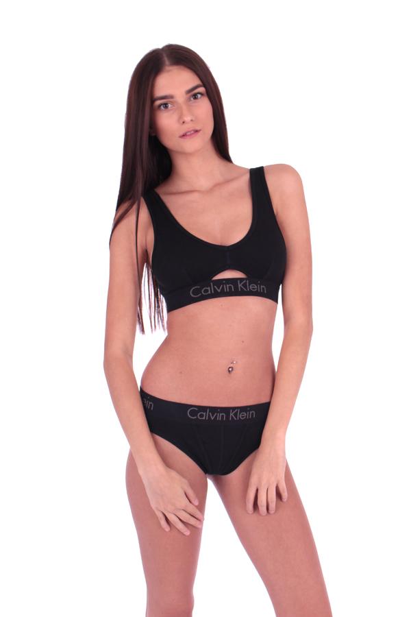 Calvin Klein Podprsenka Bralette Body Čierna S Prierezom, S - 3