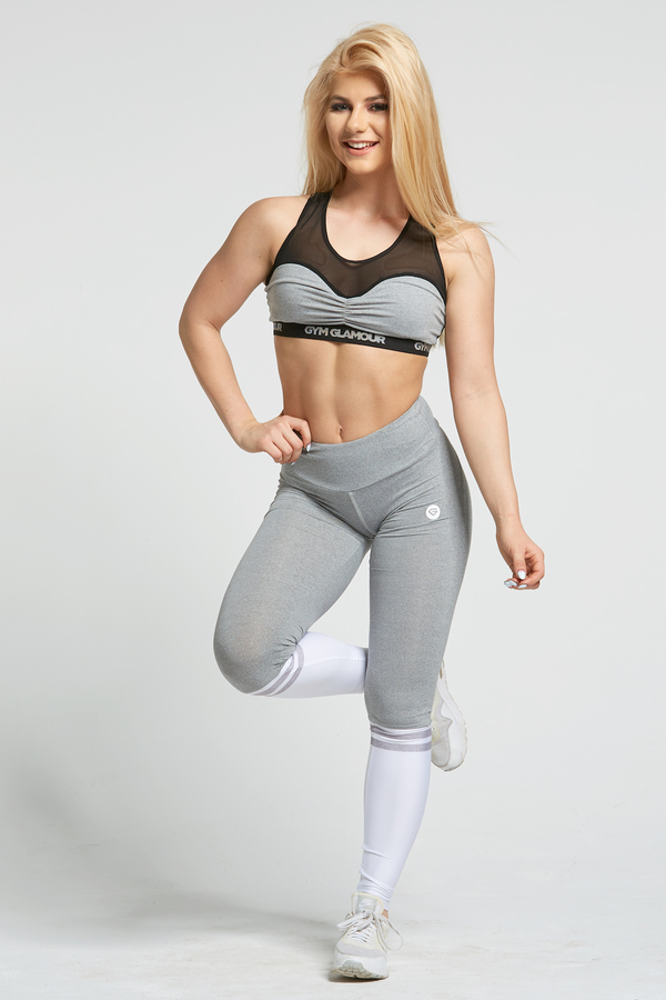 Gym Glamour Legíny Grey & White Socks, XS - 3