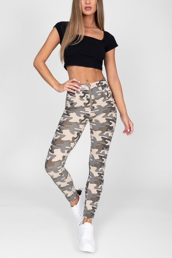 Hugz Camo Light High Waist Jegging, L - 3